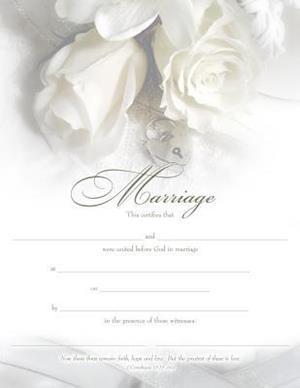 Marriage Certificate (Pk of 6) - Premium, Bronze Foil Embossed
