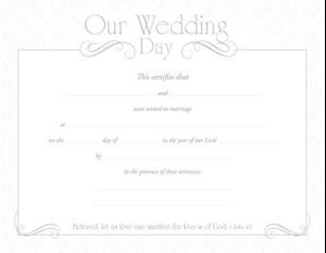 "Marriage Certificate (Pk of 6) / 8-1/2"" X 11, Premium, Silver Foil Embossed"