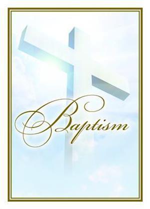 Baptism Certificate (Pk of 6) - 5x7 Folded, Premium, Gold Foil Embossed