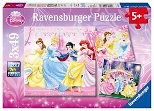 Schneewittchen. Puzzle 3 X 49 Teile