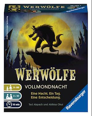 Ravensburger 26703 - Werwölfe - Vollmondnacht, Gesellschaftsspiel ab 9 Jahren, Actionsspiel für 3-10 Spieler, Spielereihe