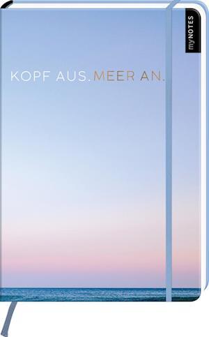 myNOTES Notizbuch A4: Kopf aus. Meer an. - notebook large, dotted - für Träume, Pläne und Ideen / ideal als Bullet Journal oder Tagebuch