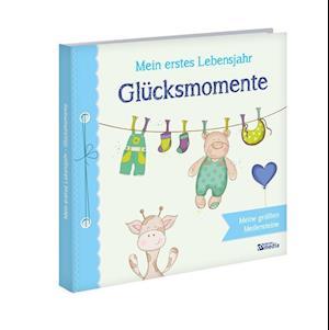 Babyalbum: Mein erstes Lebensjahr - Glücksmomente. Blau