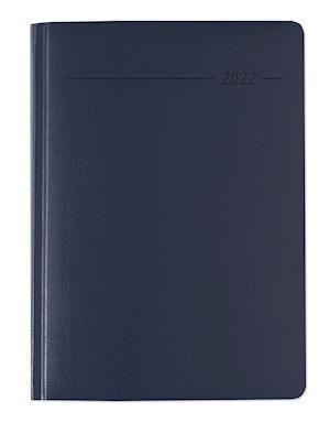 Buchkalender Balacron blau 2022 - Büro-Kalender A5