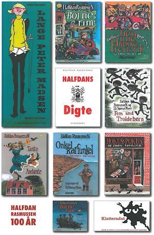 Fødselsdagsplakat – 2 x visitkort; Lange Peter Madsen plakat; Fødselsdagsplakat; følgebrev og ordreseddel