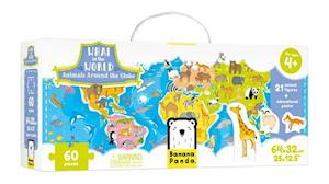 What in the World. Animals Around the Globe Floor Puzzle