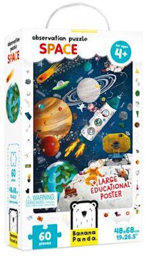 Observation Puzzle Space Age 4+ Puzzle and Poster
