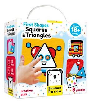 First Shapes Squares & Triangles Age 18m+ Puzzle