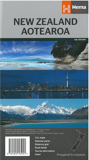 New Zealand, Hema Flat Maps Laminated 1:1.6 mill.