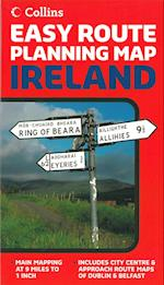 Ireland, Easy Route Planning Map 1:560.000