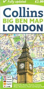 London Big Ben Map af Collins Maps