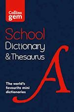 Collins Gem School Dictionary & Thesaurus (Collins School)