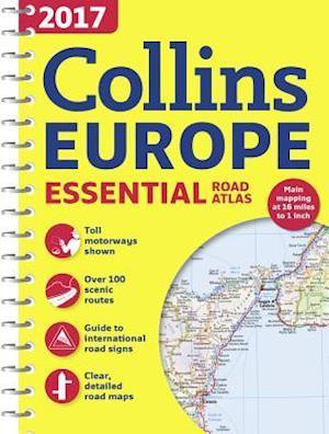 2017 Collins Essential Road Atlas Europe