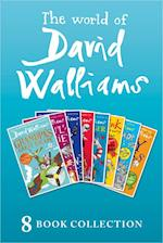 World of David Walliams: 8 Book Collection (The Boy in the Dress, Mr Stink, Billionaire Boy, Gangsta Granny, Ratburger, Demon Dentist, Awful Auntie, Grandpa's Great Escape)