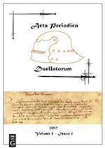 Acta Periodica Duellatorum (vol. 5, issue 1)