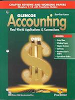 Glencoe Accounting First-Year Course Chapter Reviews and Working Papers
