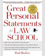 Great Personal Statements for Law School