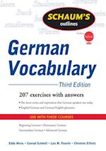 Schaum's Outline of German Vocabulary, 3ed (Schaum's Outline Series)