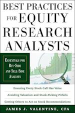 Best Practices for Equity Research Analysts:  Essentials for Buy-Side and Sell-Side Analysts (Professional Finance Investment)