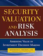 Security Valuation and Risk Analysis: Assessing Value in Investment Decision-Making