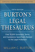 Burtons Legal Thesaurus 5th edition: Over 10,000 Synonyms, Terms, and Expressions Specifically Related to the Legal Profession af William Burton