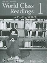 World Class Readings Level 1 Teacher's Manual with Answer Key (World Class Readings)