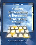 MS Word 2000 Manual for College Keyboarding& Document Processing