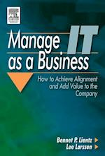 Manage IT as a Business