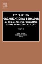 Research in Organizational Behavior (RESEARCH IN ORGANIZATIONAL BEHAVIOR)