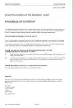 Progress of Scrutiny