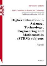Higher Education in Science, Technology, Engineering and Mathematics (Stem) Subjects
