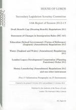 10th Report of Session 2012-13