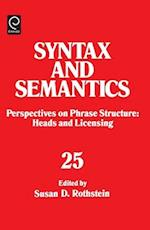 Perspectives on Phrase Structure (Syntax Semantics, nr. 25)