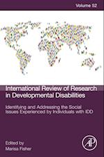 Identifying and Addressing the Social Issues Experienced by Individuals with IDD (International Review of Research in Developmental Disabilities)