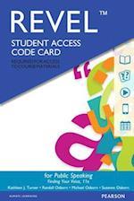 Revel for Public Speaking -- Access Card