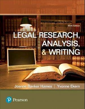 Bog, paperback Legal Research, Analysis, and Writing af Joanne Banker Hames