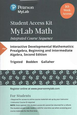 Bog, hardback Interactive Developmental Mathematics, 10-week Access af Kirk Trigsted