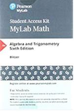 Mymathlab with Pearson Etext -- Standalone Access Card -- For Algebra and Trigonometry