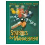 Statistics for Management af David Rubin