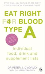 Eat Right for Blood Type A (Eat Right For Blood Type)
