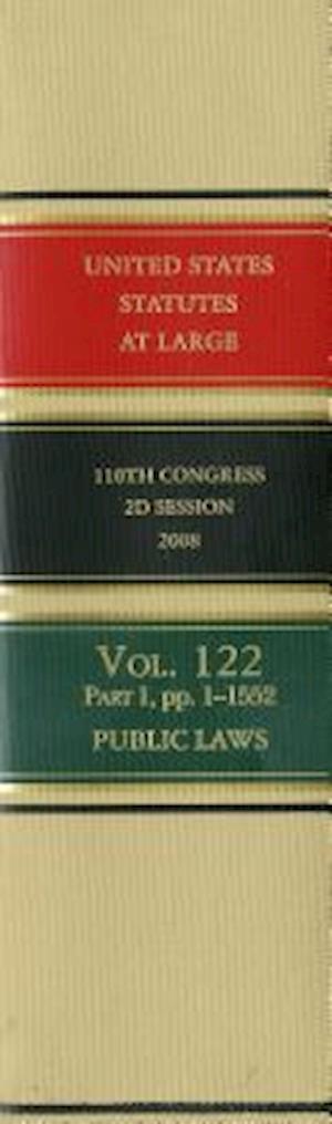 Bog, hardback United States Statutes at Large, V. 122, 2008, 110th Congress, Second Session