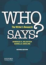Who Says? af Deborah Holdstein, Danielle Aquilline
