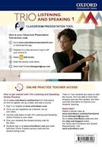 Trio Listening and Speaking: Level One: Teacher's Online Practice Pack with Classroom Presentation Tool (Trio Listening and Speaking)