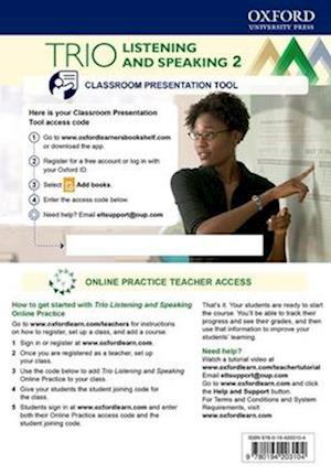 Trio Listening and Speaking Level Two Teacher's Online Practice Pack with Classroom Presentation Tool