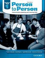 Person to Person, Third Edition Level 1: Teacher's Book (Person to Person Third Edition Level 1)
