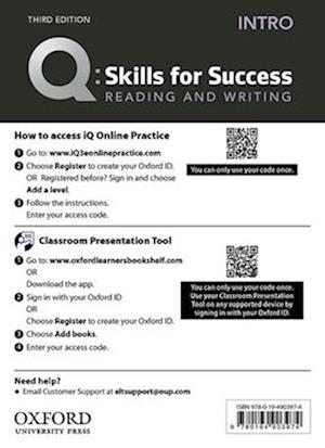 Q: Skills for Success: Intro Level: Reading and Writing Teacher's Access Card