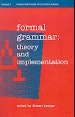 Formal Grammar: Theory and Implementation (Vancouver Studies in Cognitive Science)