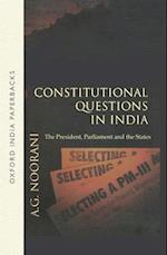 Constitutional Questions in India af A.G. Noorani
