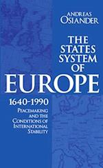 The States System of Europe, 1640-1990