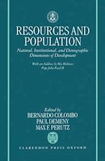 Resources and Population af Study Week on Resources and Population